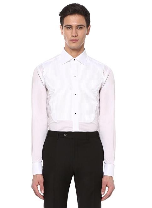 Canali Klasik Gömlek Beyaz